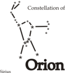 Astro Constellation Orion