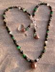 acorn necklace & earring