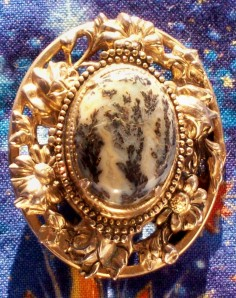 product brooch moss agate 0812