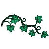 motif plant herb Ivy sprig gort celtic tree month