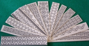 Bookmarks blackwork