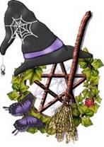 motif Witchy Hat Pentacle