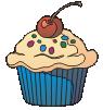 motif food cupcake