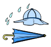 Rain Hat & Umbrella