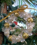 white gold bead wreath
