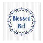 product cafe blessed be shower_curtain