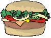 motif junk food burger