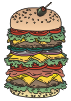 motif junk food dagwood
