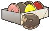 motif junk food doughnut box
