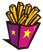 motif junk food Fries