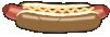 motif junk food hotdog