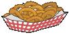 motif junk food onion rings