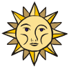 weather sun face dim