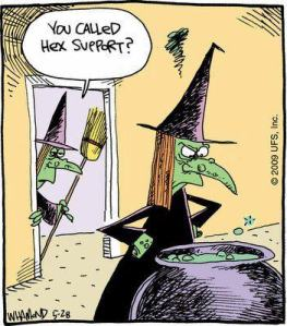 cartoon witch hex support
