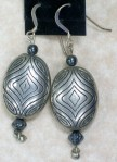 earring AT silver oval hemat