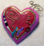 heart pin colorful