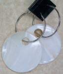 product earring shell round big