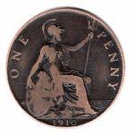 feast Brittania 1910 penny