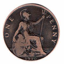 feast 0324 Brittania 1910 penny