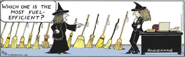 funny fuel efficient broom