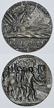 Lusitania_commemorative_German_medal_replica