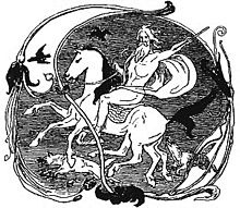 220px-Odin,_Sleipnir,_Geri,_Freki,_Huginn_and_Muninn_by_Frølich
