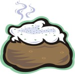 food motif baked potato