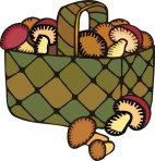 food motif shroom basket