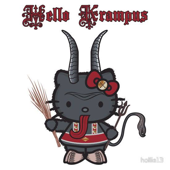 krampus Yule Hello Kitty funny