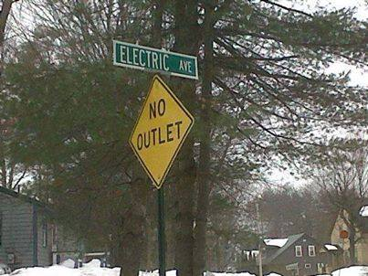 funny no electric outlet