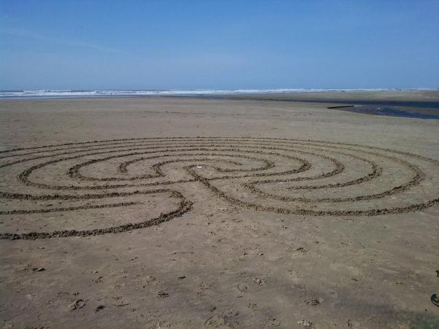 Labyrinth Ona Beach 032314 LarryLinda46th