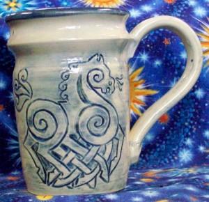 celtic horse mug 040314
