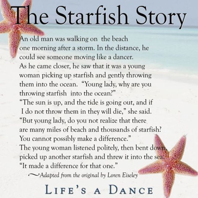 starfish story for that one.