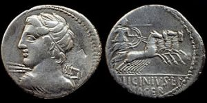 feast 0521 Republican_denarius_-_C._Licinius_L.f._Macer_