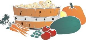 motif food veggies