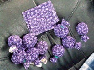 Lavendar with purple fabrics
