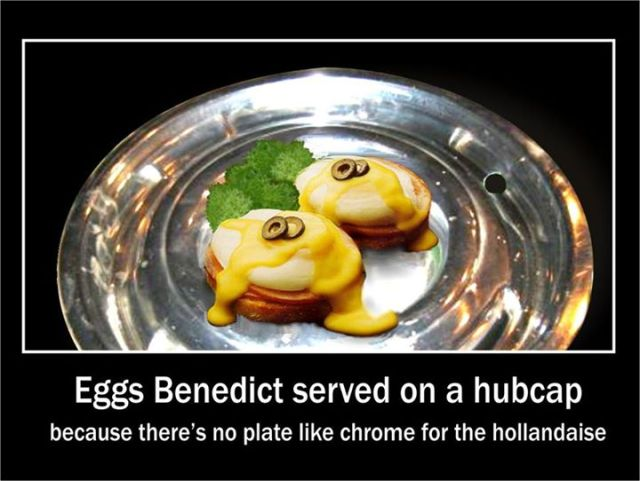 Yule funny chrome for the hollandaise