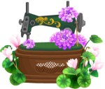 Flower arr Sewing machine motif
