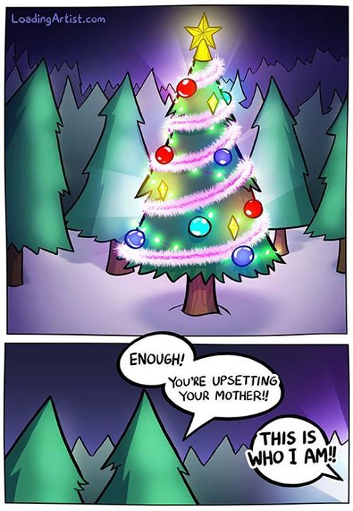 This is who I am Christmas Tree funny