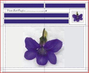 Violet pinafore