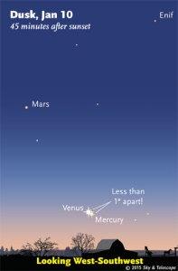 Astro MarsVenus conj 0115