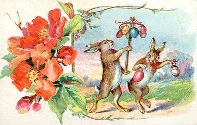 Easter bunny egg card