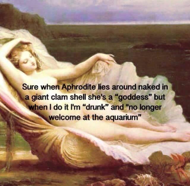 goddess drunk aquarium funny