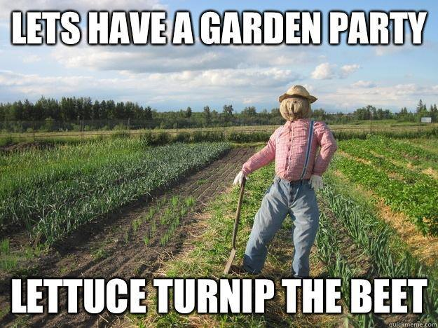 garden party pun funny