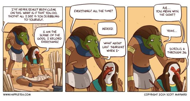 Thoth knows funny