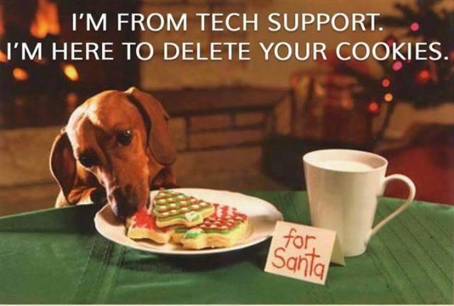 Daschund delete cookies funny yule