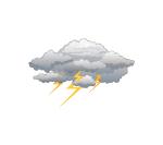 lightning storm weather motif