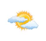 part sun weather motif