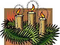 Yule candles motif