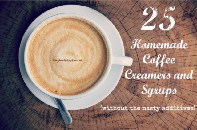 25 homemade coffee creamers
